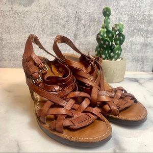 Lucky Brand Semi Wedge Sandal Heels